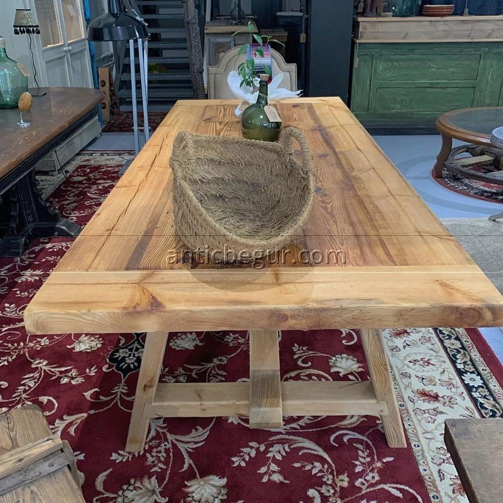 mesa pino macizo restaurado  ANTIC BEGUR