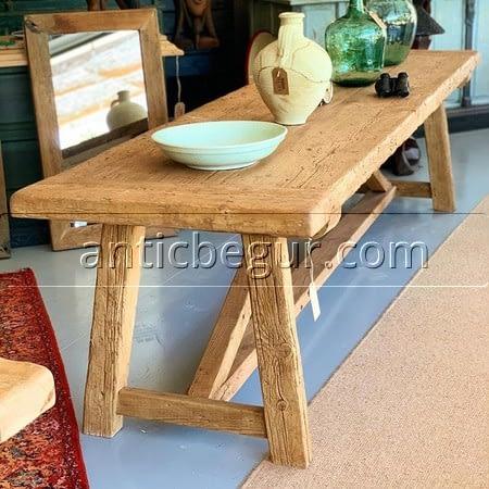 Mesas de madera roble milenario, recuperado , ANTIC BEGUR