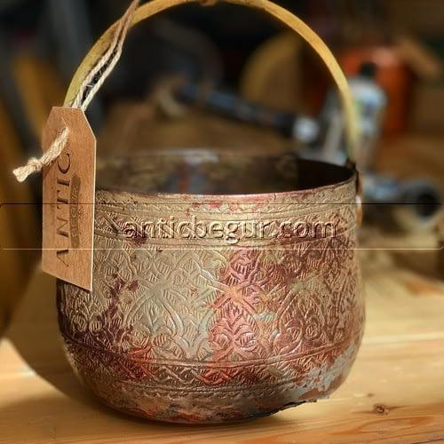 Olla de cobre anticuario Begur
