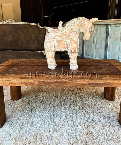 Mesas de centro madera maciza Antic Begur