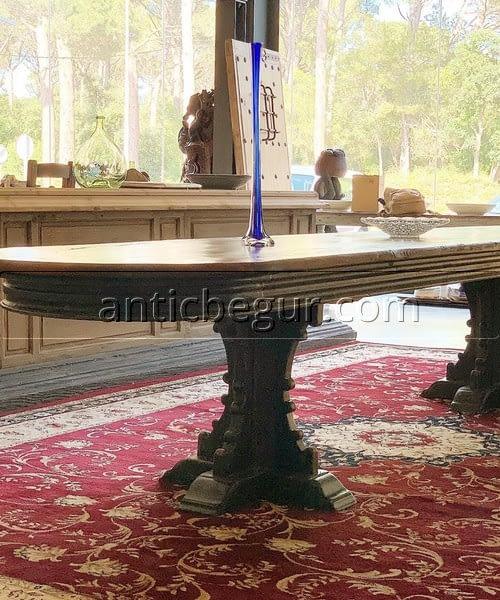 Mesas madera maciza recuperada anticuario Antic Begur