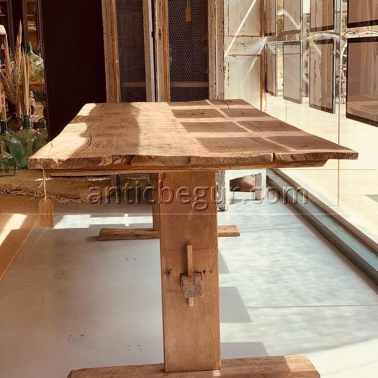 mesa roble viejo recuperada