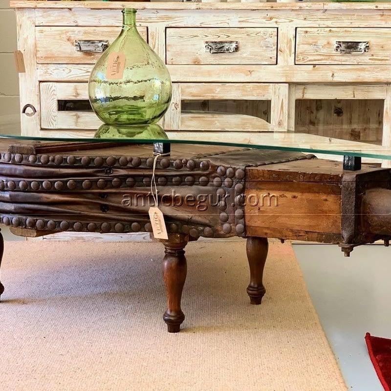 Mesas auxiliares madera maciza anticuario Antic Begur
