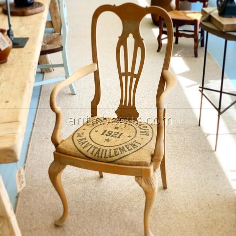 Sillas vintage madera maciza ANTIC BEGUR